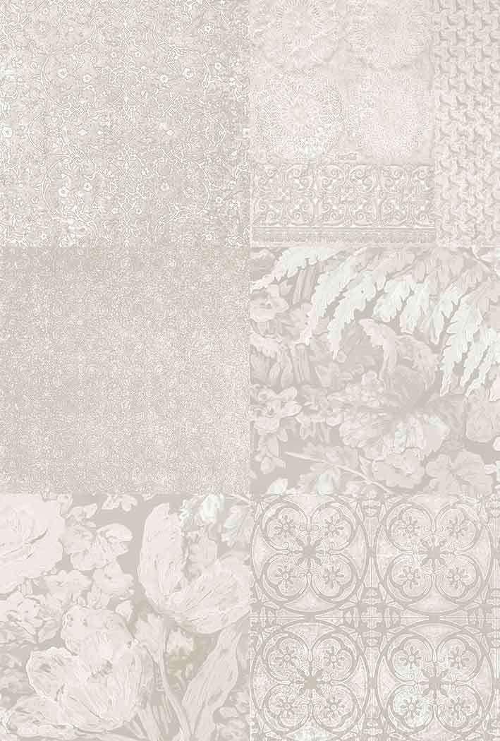Tapet modern culoare deschisa floral abstract