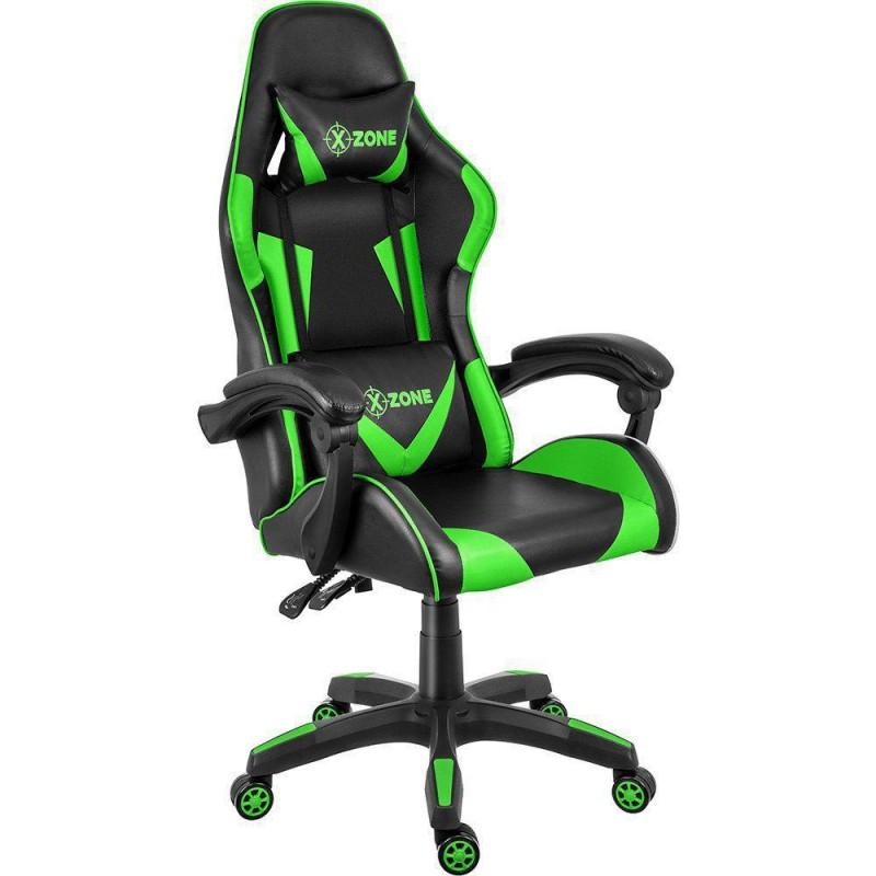 Scaun gaming verde cu negru XZONE - 1