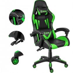 Scaun gaming verde cu negru XZONE - 2
