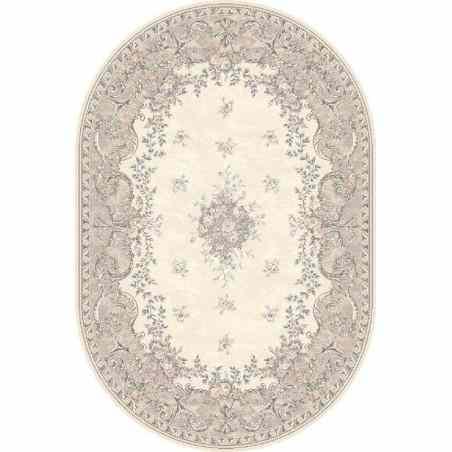 Covor lana oval Dafne alabastrowy - 1