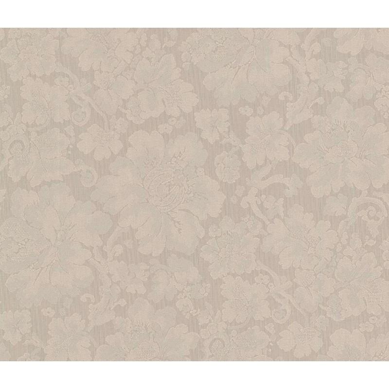 Tapet model clasic cu flori discrete  - 1