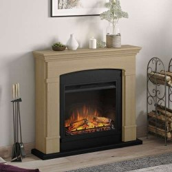 SEMINEU HELMI NATURAL OAK CU FOCAR ELECTRIC POWERFLAME 23 INCH - 2