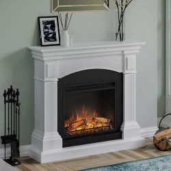 SEMINEU MAGNA PURE WHITE CU FOCAR ELECTRIC POWERFLAME 23 INCH  - 2