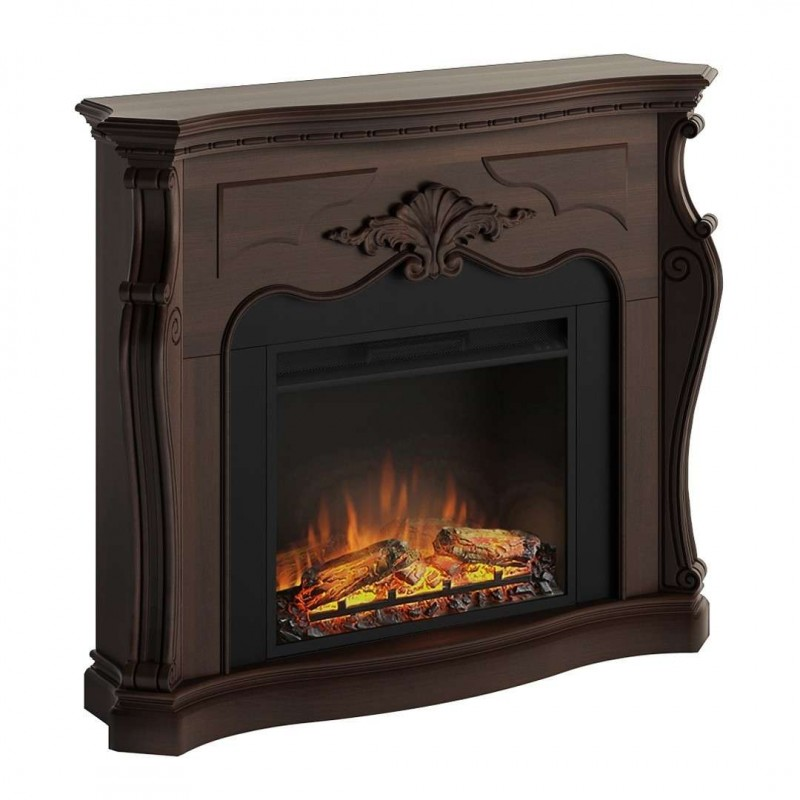 SEMINEU GALA ROYAL WALNUT CU FOCAR ELECTRIC POWERFLAME 23 INCH  - 1