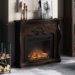 SEMINEU GALA ROYAL WALNUT CU FOCAR ELECTRIC POWERFLAME 23 INCH  - 2