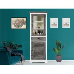 Vitrina lemn cu usa din sticla - 1