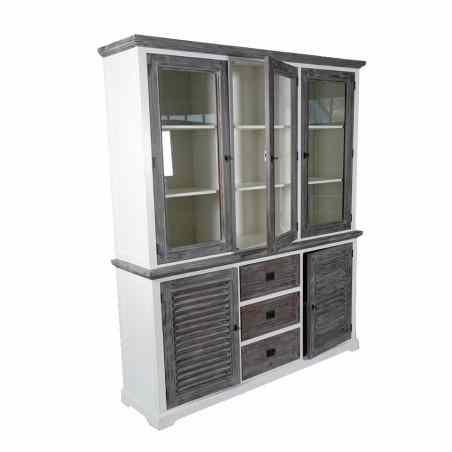 Vitrină mare cu cinci uși și trei sertare - 1