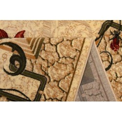 Covor modern crem cu flori 587  - 2