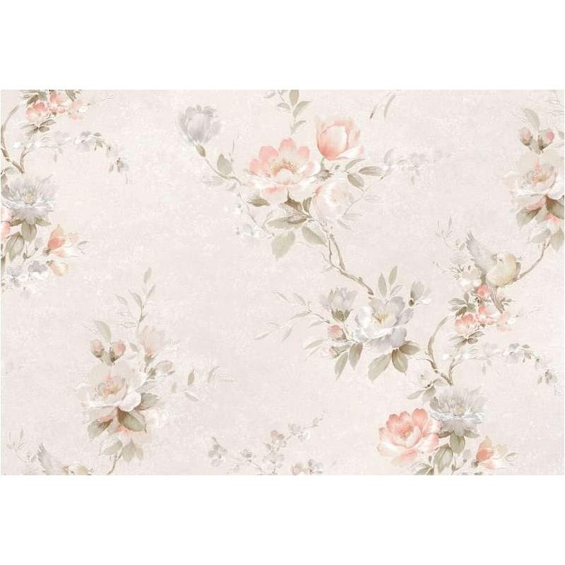 Tapet clasic floral cu fundal crem Z44603  - 1