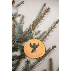 Decoratiune de craciun - Ingeras din felie de lemn New Way Decor  - 2