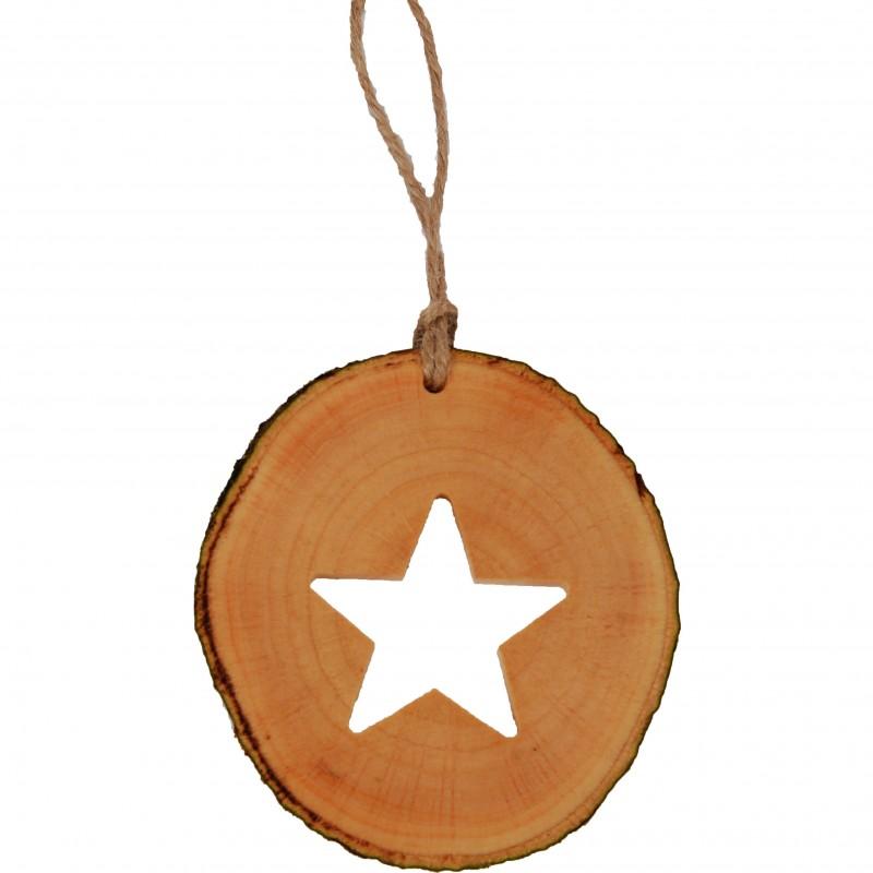 Decoratiune de craciun  - Steluta din felie de lemn New Way Decor  - 1