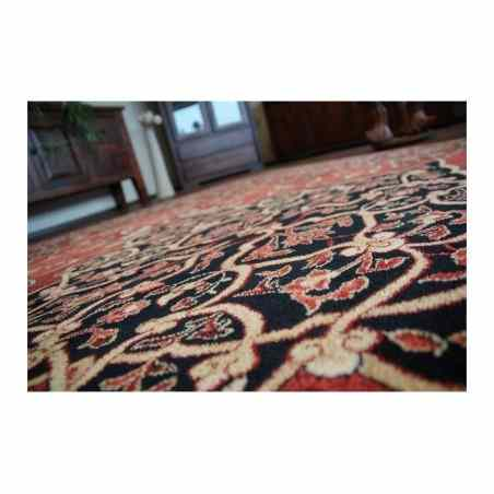 Covor lana oval Leyla culoare rubin  - 1