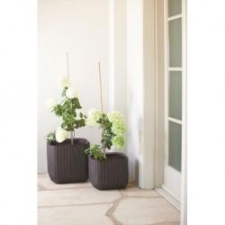 Ghiveci pentru flori, patrat, maro - 2