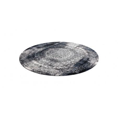 Covor lana Currus negru cerc - 1