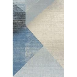 Covor lana Wido albastru forme geometrice - 1