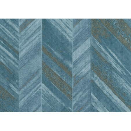 Tapet albastru model geometric 24643 - 1
