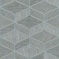 Tapet geometric gri albastru Z63034 - 1