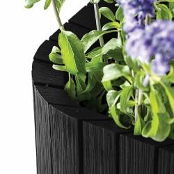 Ghiveci pentru flori, patrat, antracit - 3