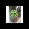 Ghiveci pentru flori, rotund, gri - 2
