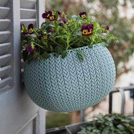 Ghiveci pentru flori, albastru, suspendabil - 1