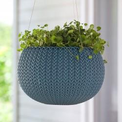 Ghiveci pentru flori, albastru, suspendabil - 2