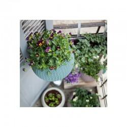 Ghiveci pentru flori, albastru, suspendabil - 3
