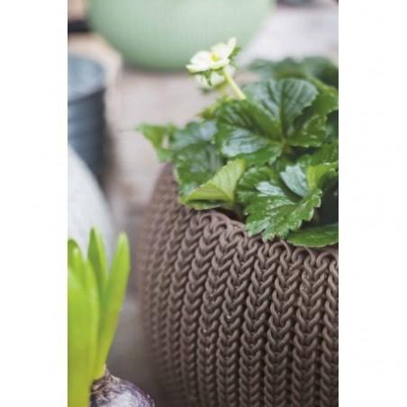 Ghiveci pentru flori, rotund, maro, suspendabil - 1