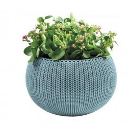 Ghiveci pentru flori, rotund, suspendabil, albastru - 1