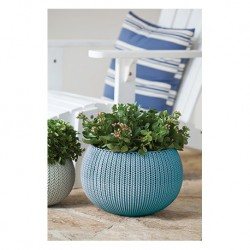 Ghiveci pentru flori, rotund, suspendabil, albastru - 2