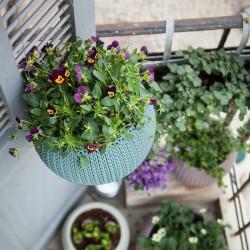Ghiveci pentru flori, rotund, suspendabil, albastru - 3