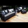 Canapea pentru gradina, 3 locuri, gri - 2