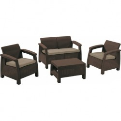 Set mobilier gradina, maro - 2