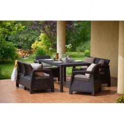 Set mobilier pentru terasa, maro - 2