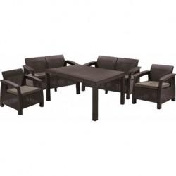 Set mobilier pentru terasa, maro - 4