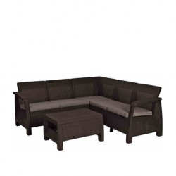 Set mobilier pentru gradina Relax, maro - 1