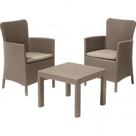 Set mobilier gradina Salvador, cappuccino - 1