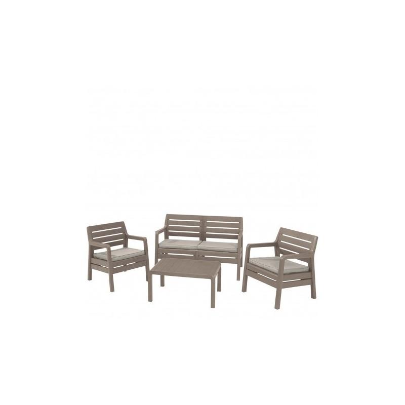 Set mobilier gradina Delano, cappuccino - 1