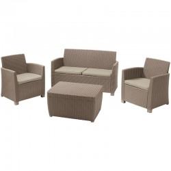Set mobilier gradina ratan, cappuccino - 3