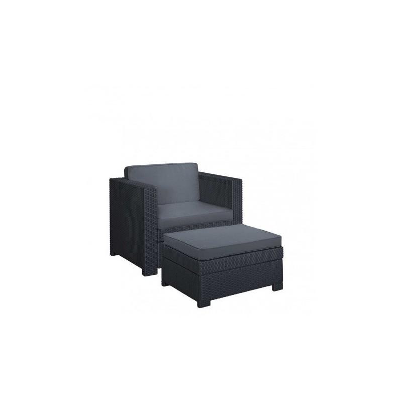 Set scaun si masuta terasa, grafit - 3