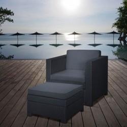 Set scaun si masuta terasa, grafit - 4