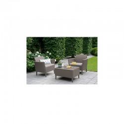 Set mobilier pentru balcon, 2 locuri, cappuccino - 1