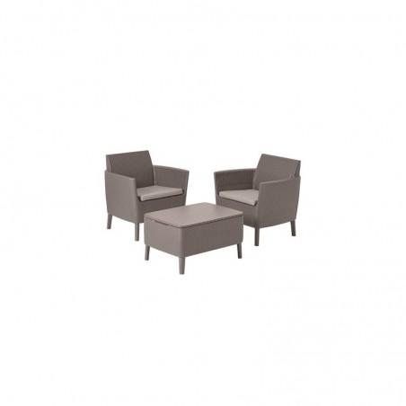 Set mobilier pentru balcon, 2 locuri, cappuccino - 4