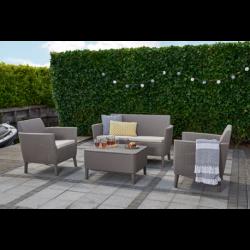 Set mobilier gradina, 4 locuri, cappuccino - 2