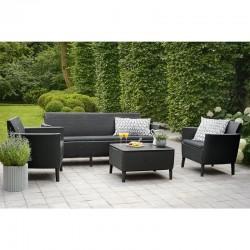 Set mobilier pentru gradina, 5 locuri, grafit - 2