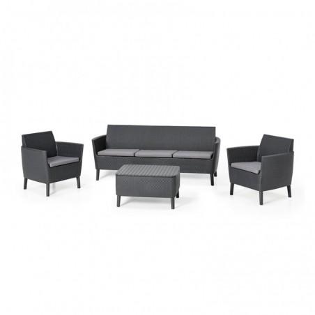 Set mobilier pentru gradina, 5 locuri, grafit - 3