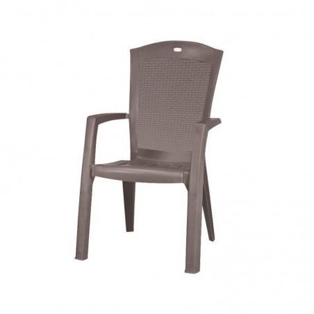 Scaun elegant pentru gradina, cappuccino - 1