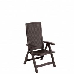Set 2 scaune pliante pentru gradina, maro - 1