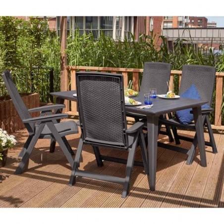 Set 2 scaune pliante pentru gradina, maro - 4
