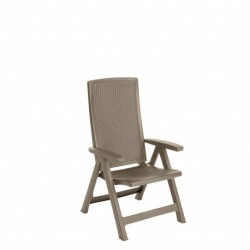 Set 2 scaune pliante pentru gradina, cappuccino - 1