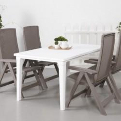 Set 2 scaune pliante pentru gradina, cappuccino - 2